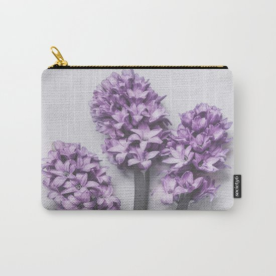 Three Light Purple Hyacinths Carry-All Pouch