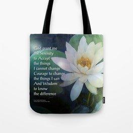 Serenity Prayer Lotus One Tote Bag