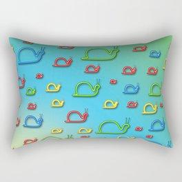 Colorful snails Rectangular Pillow