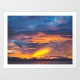 Coromandel Sunset II Art Print