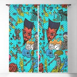 Vintage Comic Devils Blackout Curtain