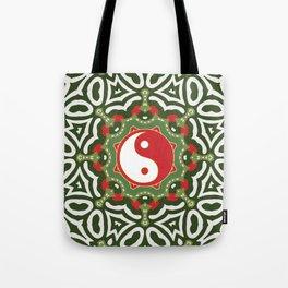 Holiday Festive Balance Yin Yang Tote Bag