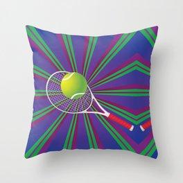 Tennis Ball and Racket Throw Pillow