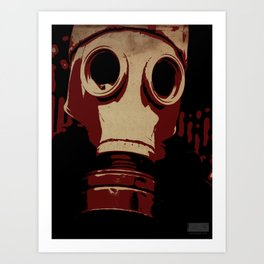 Cover Your Face! Art Print