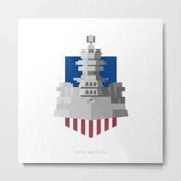 Battleship New Mexico Metal Print