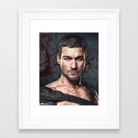 gladiator Framed Art Prints featuring gladiator by natira's art