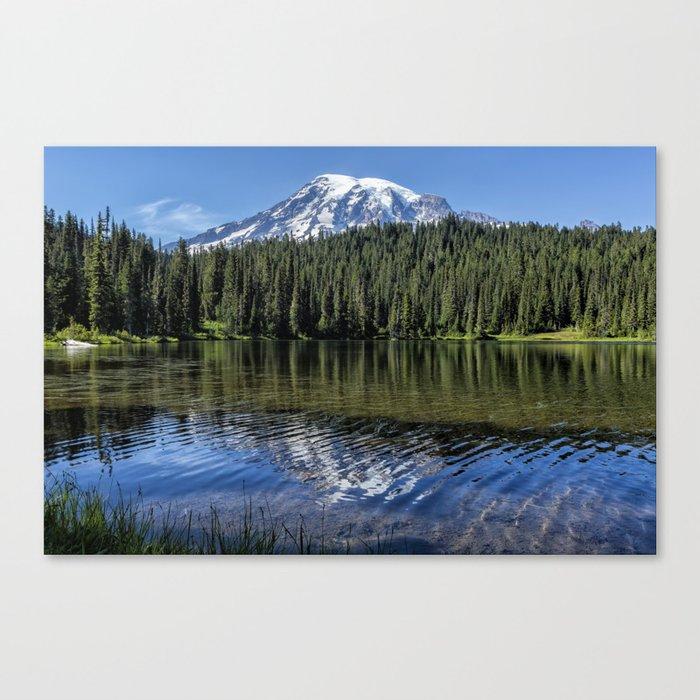Ripples and Reflection, Mt Rainier Canvas Print