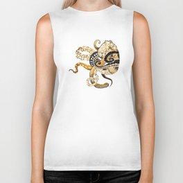Metallic Octopus Biker Tank