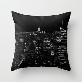 New York by Night Throw Pillow