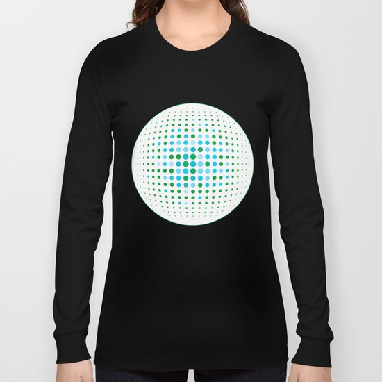 Green and blue optic Long Sleeve T-shirt