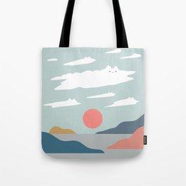 Cat Landscape 23 Tote Bag