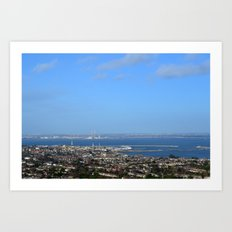 View of Dun Laoghaire and Dublin, Ireland Art Print