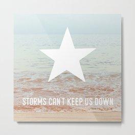 Lone Star Storm Metal Print