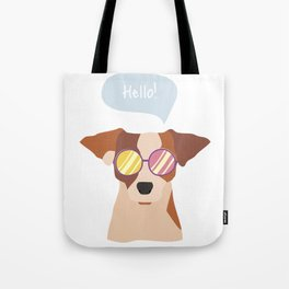 Hipsta Dog Tote Bag