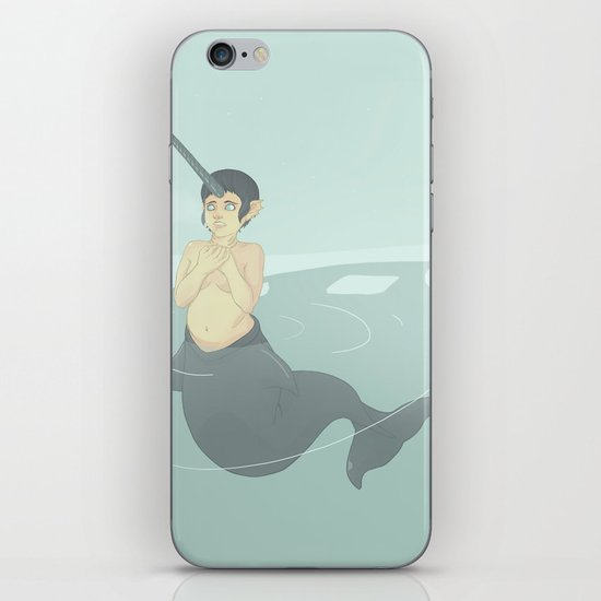 Narwhal Mermaid iPhone & iPod Skin