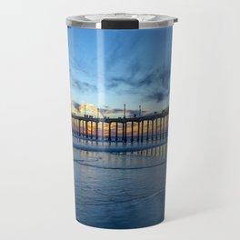 Sunsets at the pier Travel Mug