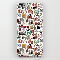 dumbledore iPhone & iPod Skins featuring Kawaii Harry Potter Doodle by KiraKiraDoodles