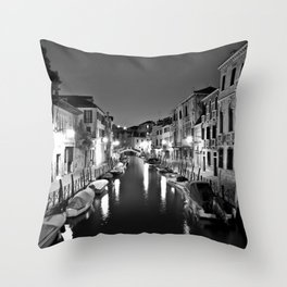 Venitian Canal. Santa Croce, Venice, Italy Throw Pillow
