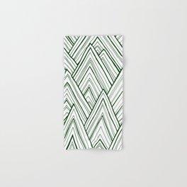 Stripe Mountains - Dark Green Hand & Bath Towel
