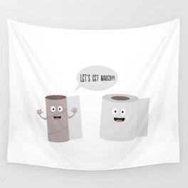 Toilet roll tissue cartoon Wall Tapestry