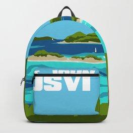 USVI Travel Poster Backpack