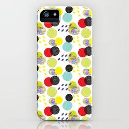 Dots party colorful bubble pattern design combined textures wrap iPhone Case