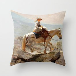 The Bridle Path, White Mountains - Digital Remastered Edition Throw Pillow