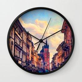 Cracow Florianska street Wall Clock