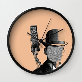 Remote Lady Wall Clock