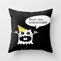birthday Throw Pillows featuring Birthday by My own little world