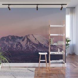 Mount Saint Helens at dusk Wall Mural