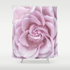 Pink Heart of a rose Roses Flowers Shower Curtain
