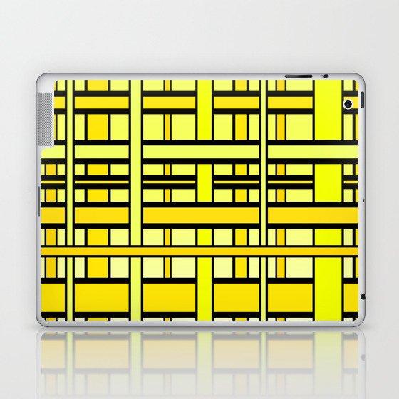 Yellow grid Laptop & iPad Skin