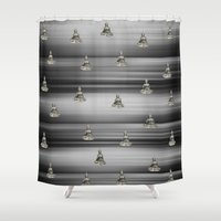 buddha Shower Curtains featuring Buddha by Fine Art by Rina