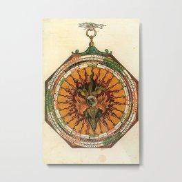 Peter Apian - Astronomicum Caesareum 1540 - Plate 18 Predictions of Eclipses of the Sun and Moon Metal Print