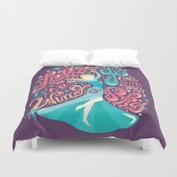 risa rodil Duvet Covers featuring Snow Queen by Risa Rodil