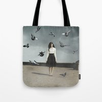fear Tote Bags featuring Fear by Jovana Rikalo