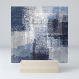 Marine on Gray Abstract Mini Art Print