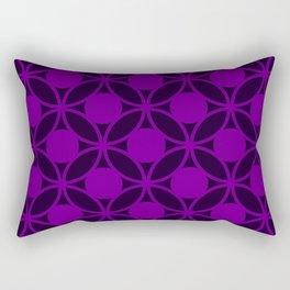 Geometric Orbital Circles In Magenta and Purple Rectangular Pillow