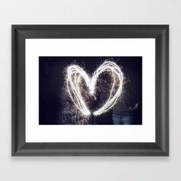 Sparkler Love Framed Art Print