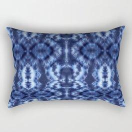 Topanga Tie-Dye Blue Rectangular Pillow