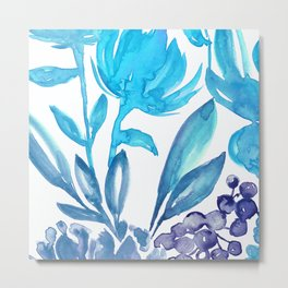 Abstract floral & square #5 Metal Print