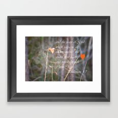 Guard Your Hearts Framed Art Print