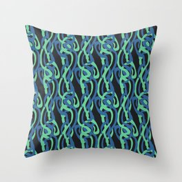 Sinuous Pattern Throw Pillow