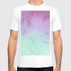 Free Will White MEDIUM Mens Fitted Tee