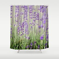 lavender Shower Curtains featuring Lavender by A Wandering Soul