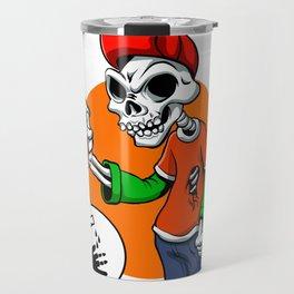 vector skull painting graffiti Travel Mug