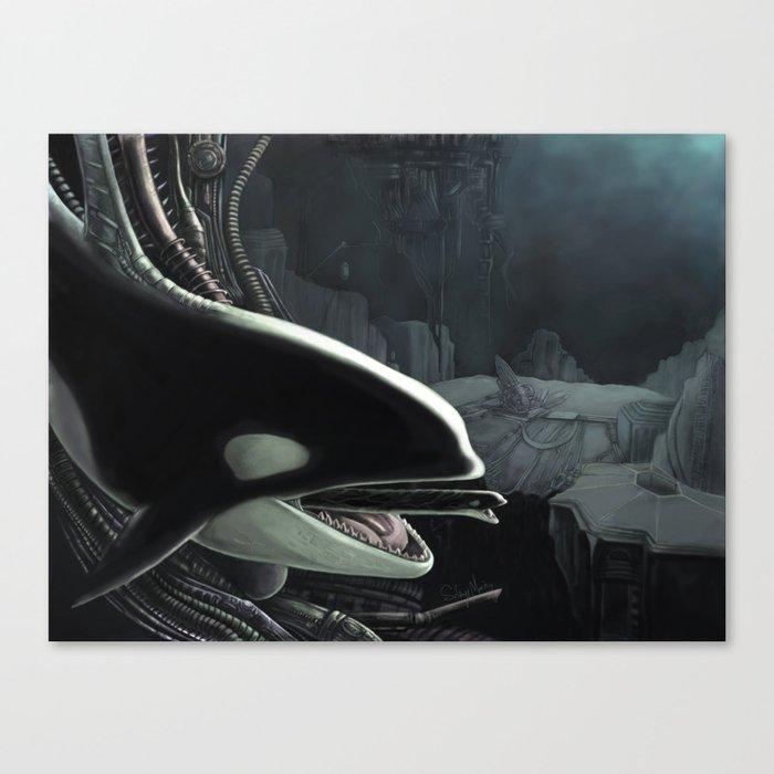 Whalien Canvas Print