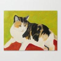nori Canvas Prints featuring Nori by jeannefischer