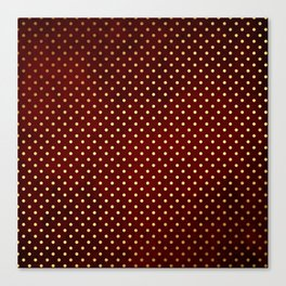 Adorable design for girls - Small gold dots on red background Canvas Print